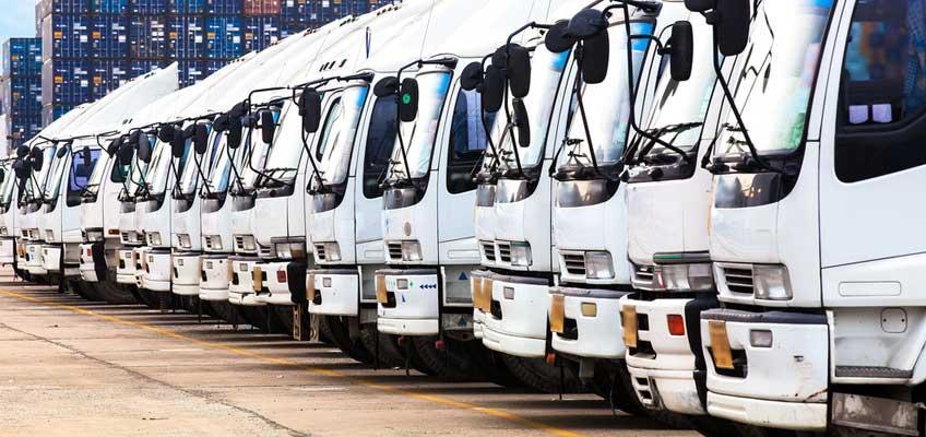 Fronter på flera lastbilar