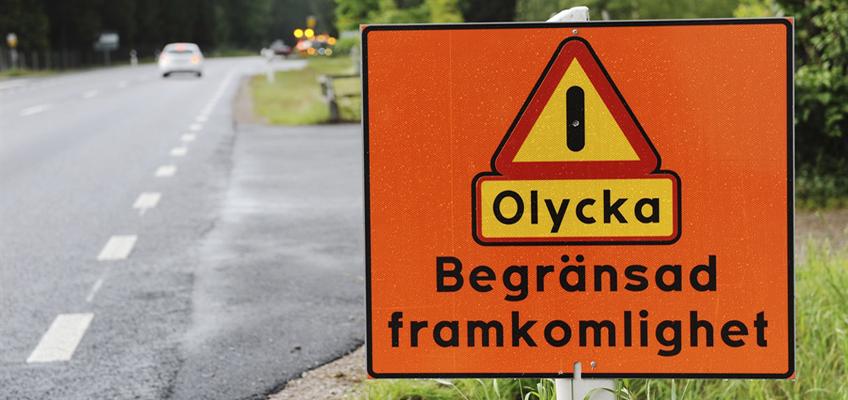 Trafikolycka skylt