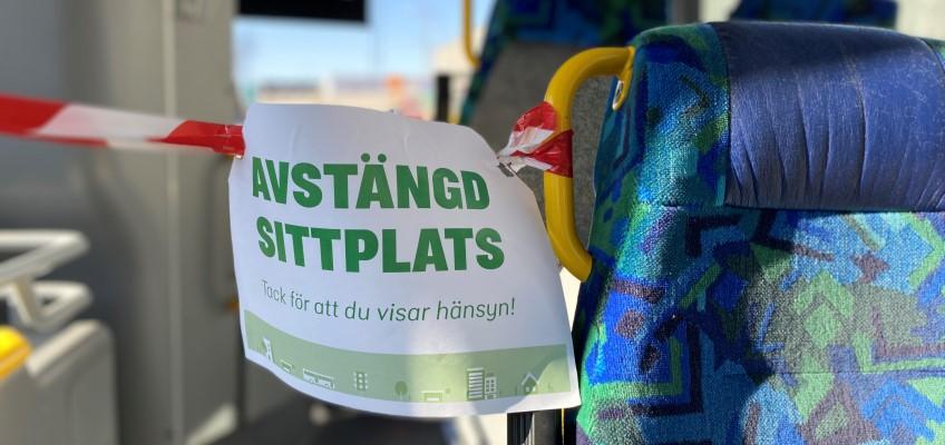 Avstängd sittplats på buss