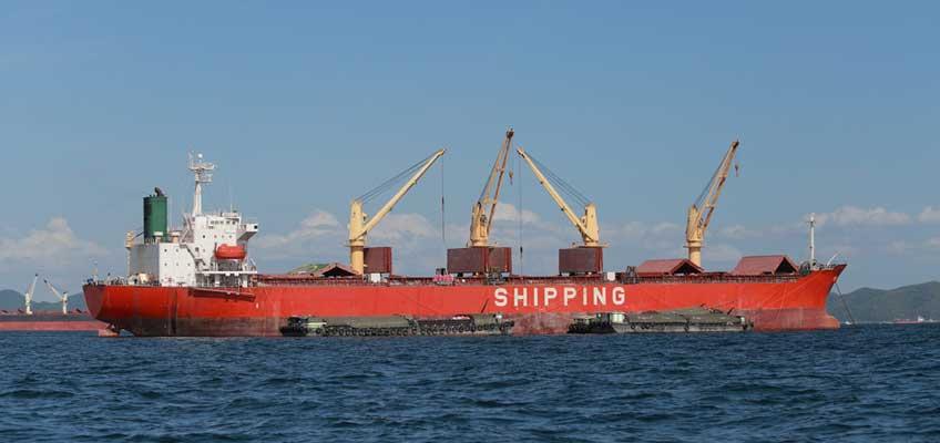 Ett lastfartyg