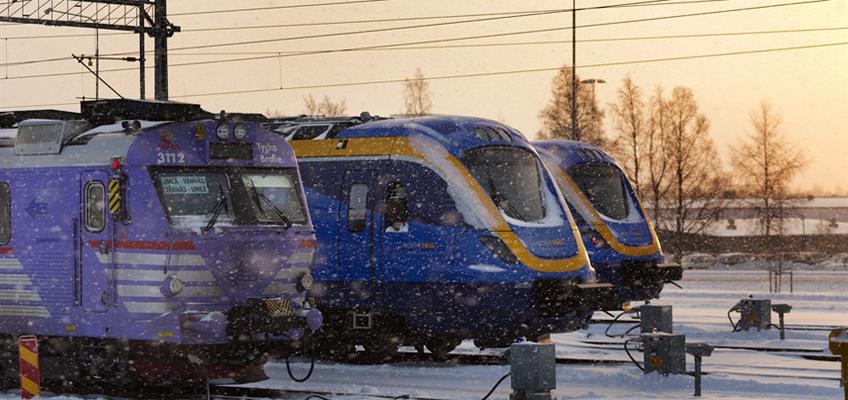 Tåg i snö