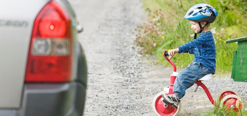 Trehjuling vid väg