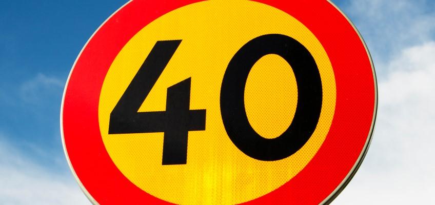 Hastighetsskylt 40 km/h
